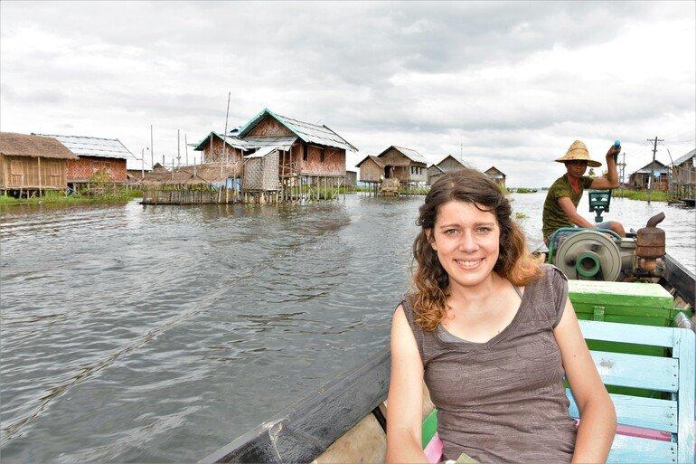 Casas flotantes - Lago Inle, Myanmar