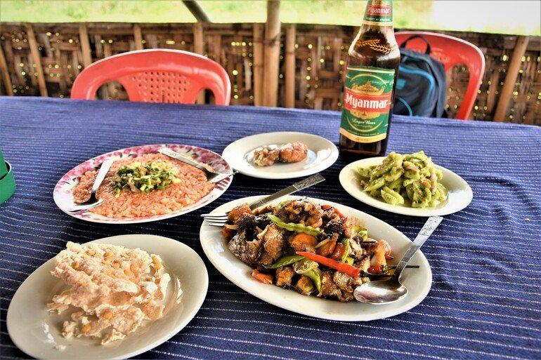 Donde comer en el Lago Inle Myanmar