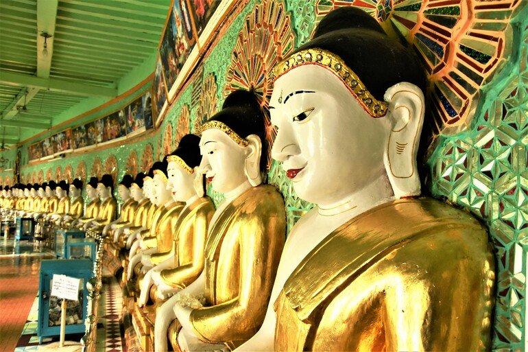 Que ver en Mandalay pagoda de 45 budas