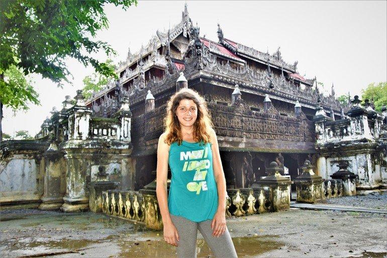 Monasterio Shwendandaw Kyaung - Que visitar en Mandalay
