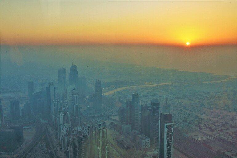 Atardecer desde el Burj Khalifa