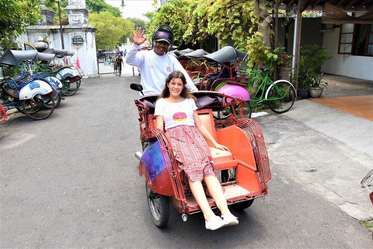 Como moverse bajaj- Que ver en Yogyakarta