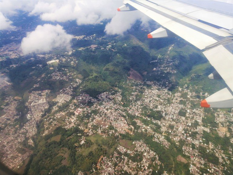 vistas desde avión Gutemala City