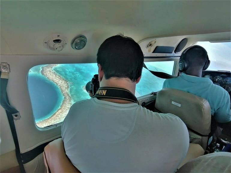 Volar sobre el Great Blue Hole