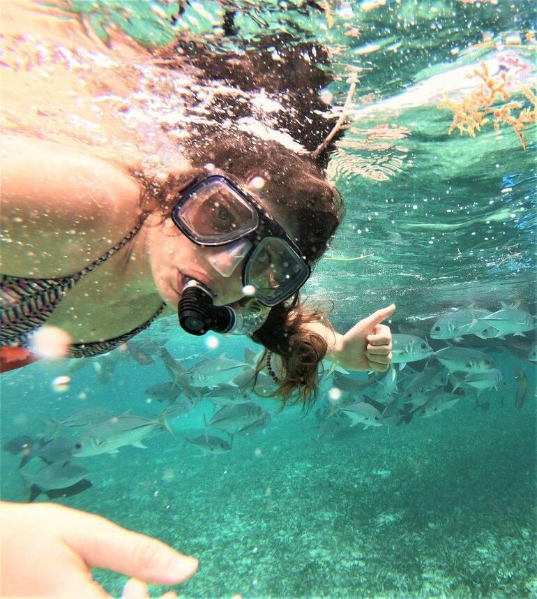 Snorkel en CayoAmbergris Caulker