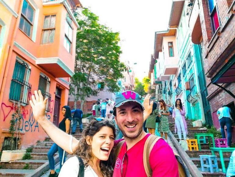 Merdivenli yokuşu visitar Estambul