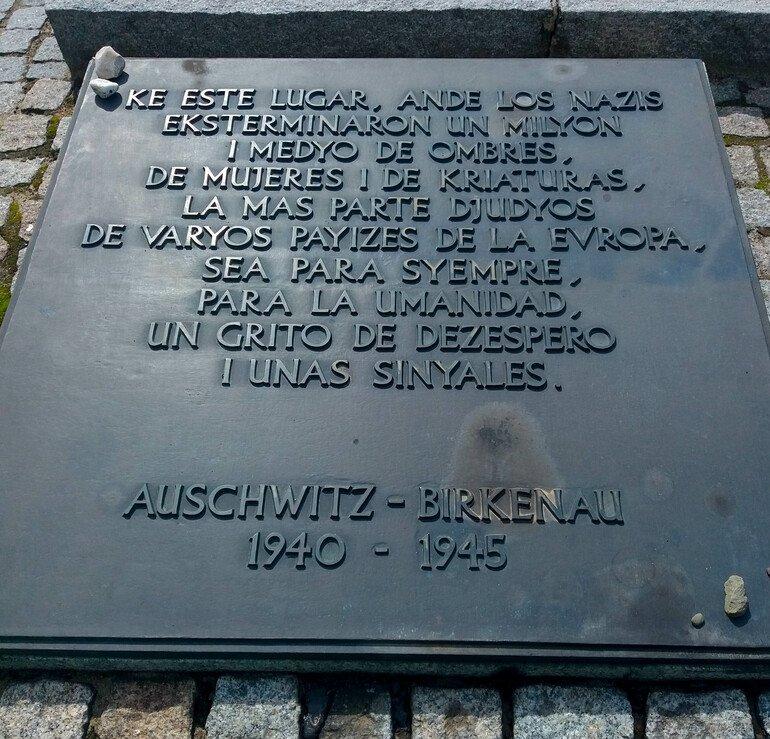 lenguaje ladino - Campos de concentración de Auschwitz