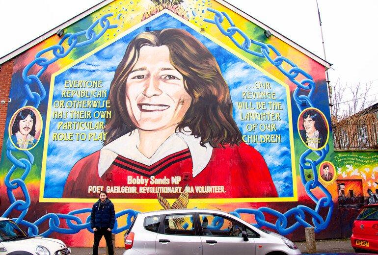 Preso político líder del IRA - Murales de Belfast