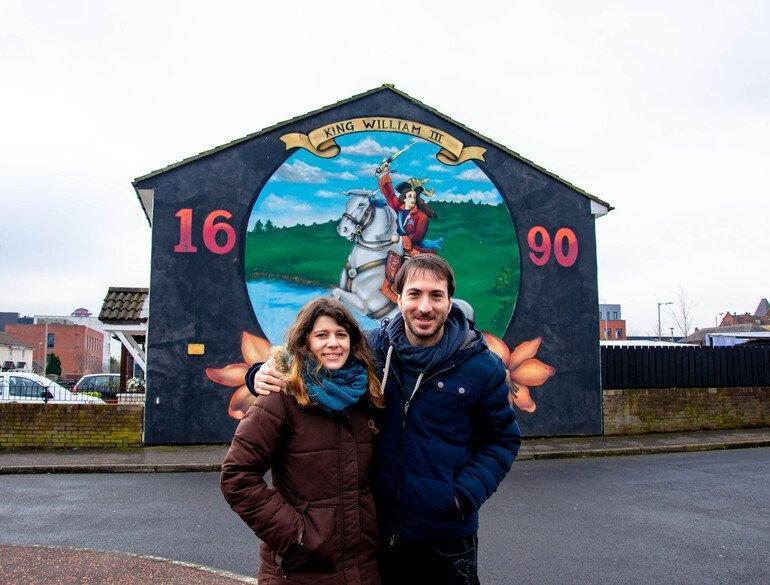 Guillermo III - Murales de Belfast