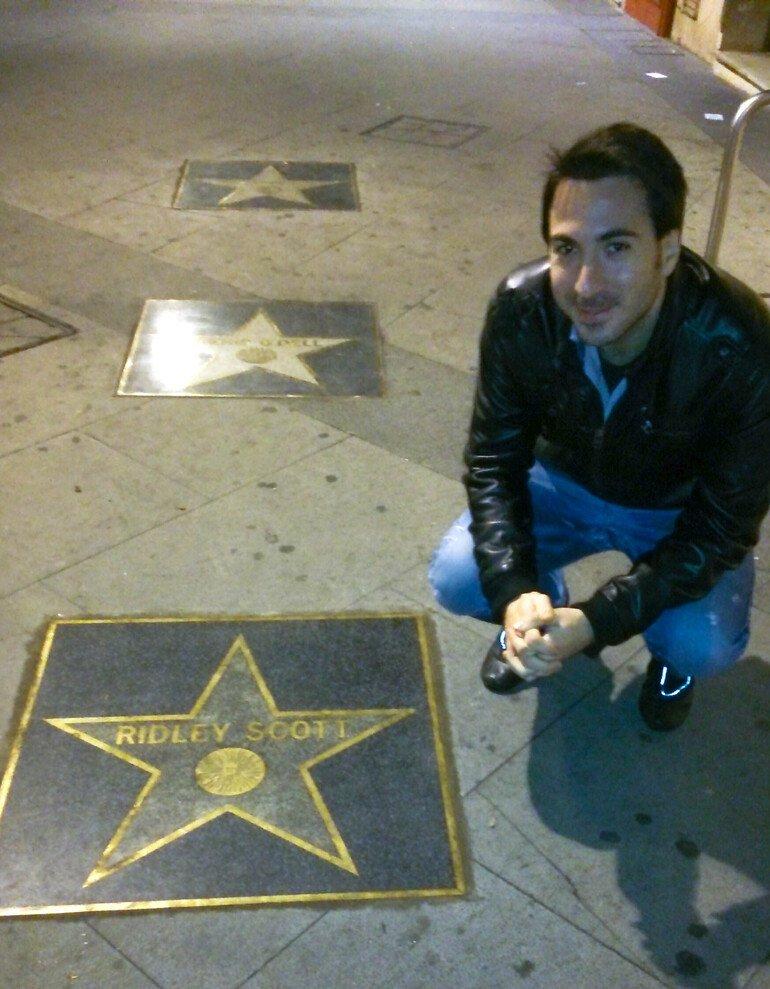Estrellas en el Paseo de la Fama de Almería
