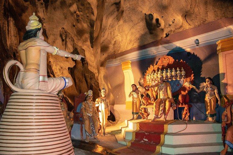 Interior Ramayan Cave - Batu Caves Kuala Lumpur