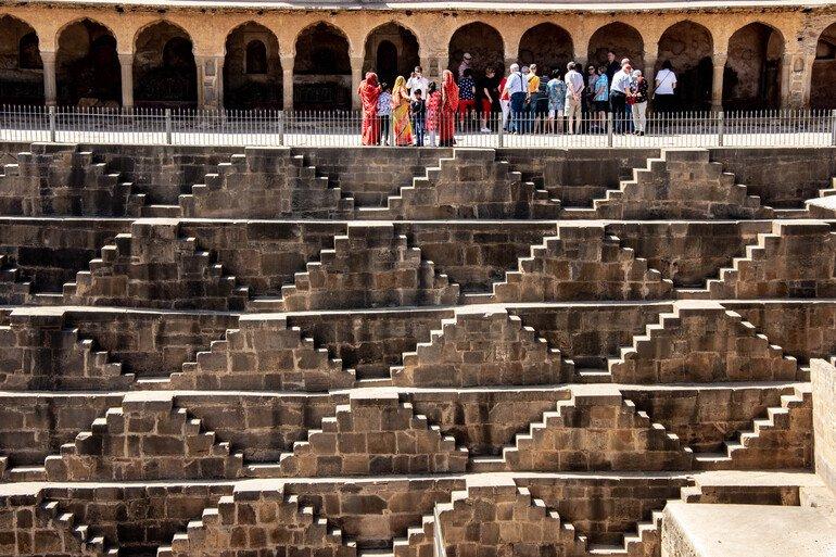Chand Baori - entre Jaipur y Agra