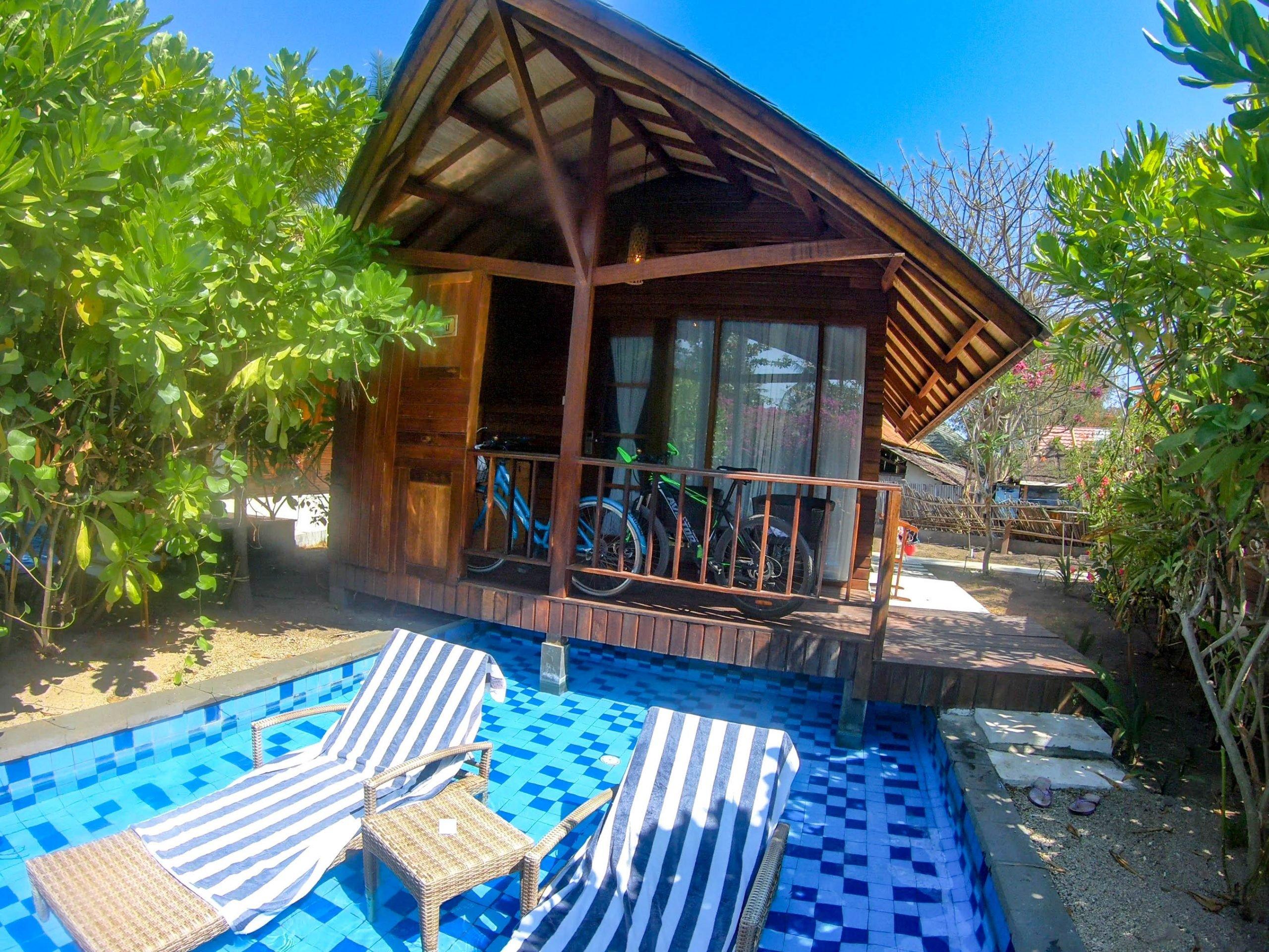 Alojate en un bungalow en las Islas Gili - Indonesia