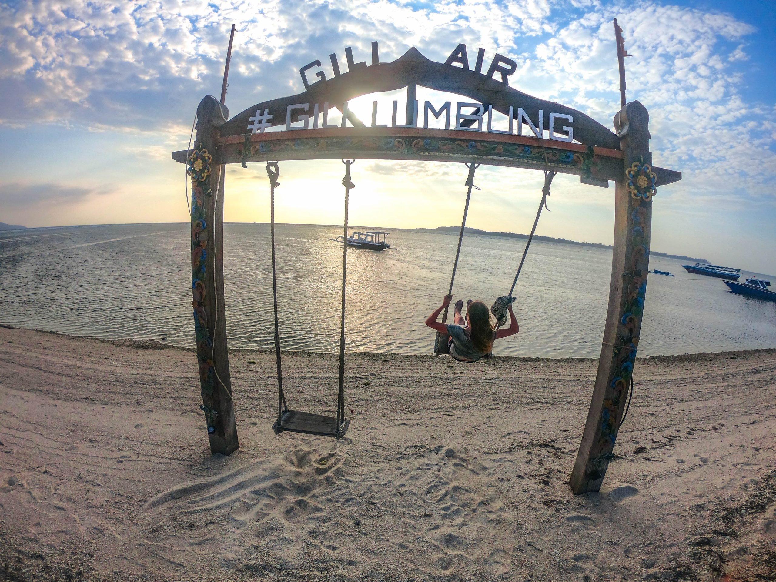 Columpios en islas Gili Indonesia
