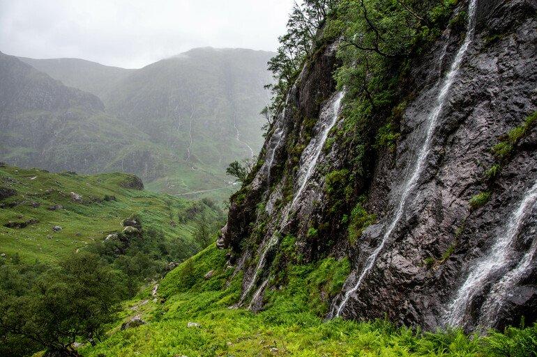 Cascadas en Glencoe Escocia