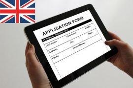 Formulario para entrar a Reino Unido