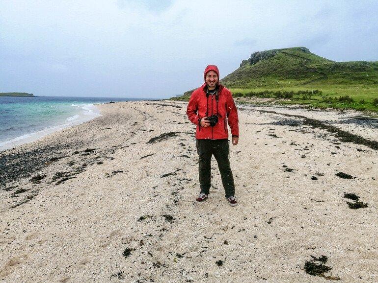 Coral beach en isla de Skye