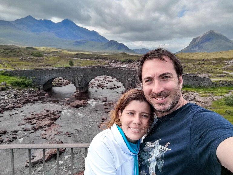Puente de Sligachan en Skye