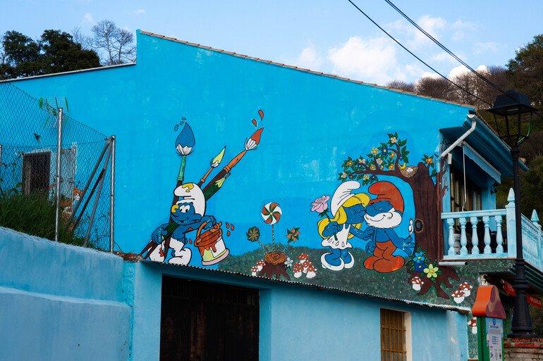 murales-pitufos-júzcar- Que ver en Júzcar