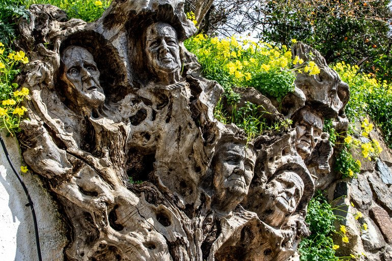 escultura-en-arbol- que ver en Genalguacil